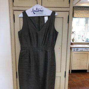 MaxMara Olive Green V neck sheath dress